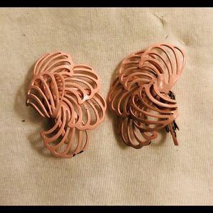 VTG Pink Enamel Earrings
